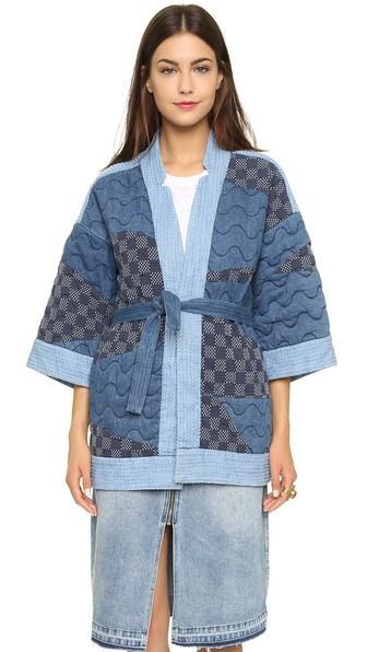 Sea Patchwork Kimono - Multi