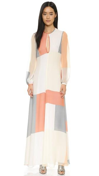 Zimmermann Arcadia Teardrop Sheath Dress - Geo