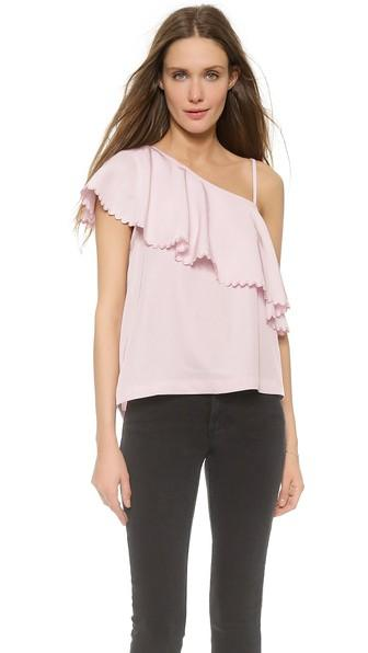 Rodebjer Wep One Shoulder Top - Frosty Pink