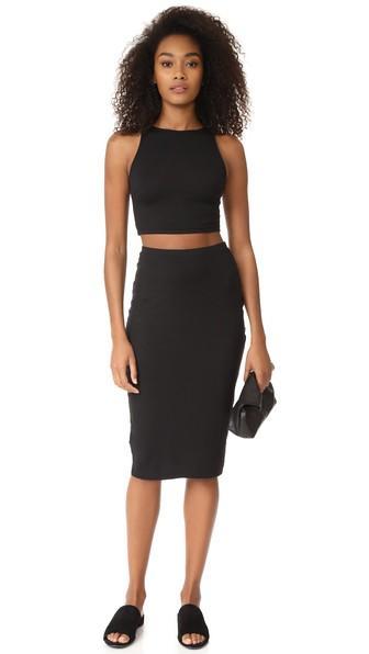 Cosabella Minimalista Crop Cami Skirt Set