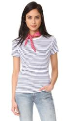 Three Dots Stripe Crew Neck Tee
