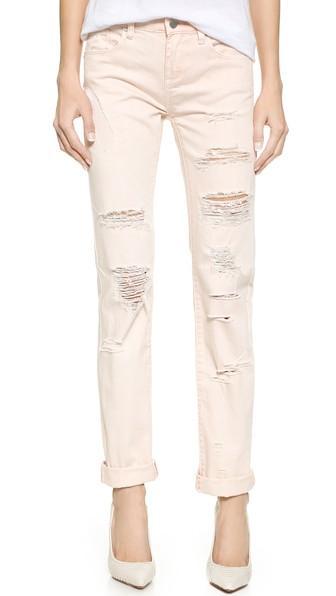 Blank Denim Distressed Straight Leg Jeans - Ditz