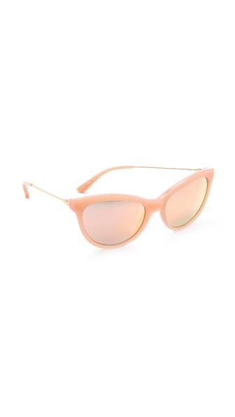 Tory Burch Cat Eye Sunglasses - Blush Gold/rose Gold Flash
