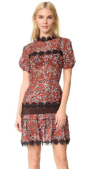 Nicholas N Nicholas Sicilian Floral Tuck Dress