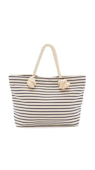 Hat Attack Perfect Tote - Navy Stripe