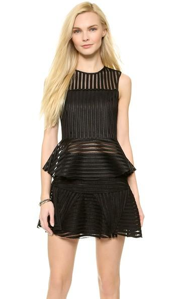 J.o.a. Mesh Stripe Top - Black