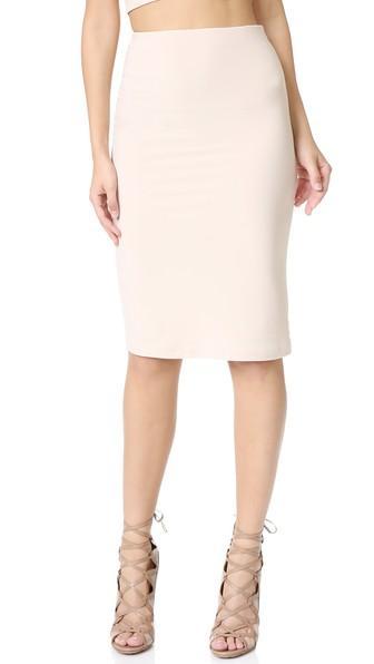 Alice + Olivia Air Terri Pencil Skirt - Pale Nude
