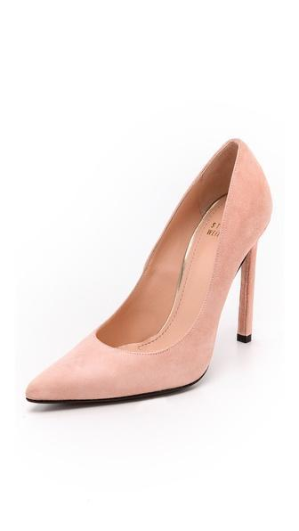 Stuart Weitzman Queen 110mm Suede Pumps - Makeup