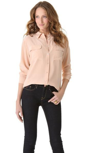 Equipment Signature Blouse - Nude