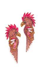 Elizabeth Cole Fuchsia Earrings
