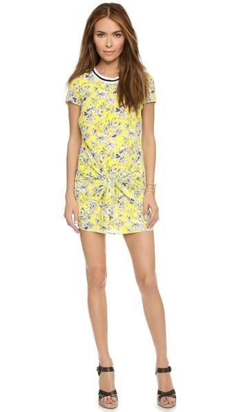 Love Sadie Ditsy Floral Tie Front Dress - Charturese Floral