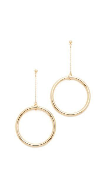 Cloverpost Halo String Earrings - Gold