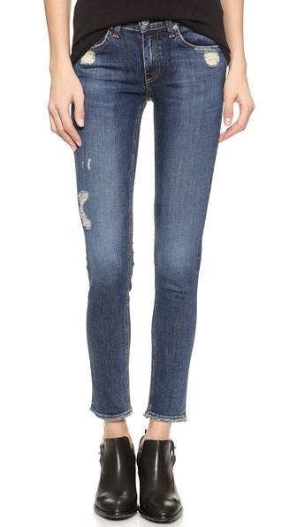 Rag Bone Jean The Frayed Skinny Jeans