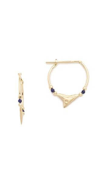 Aurelie Bidermann Fine Jewelry Shark Earrings