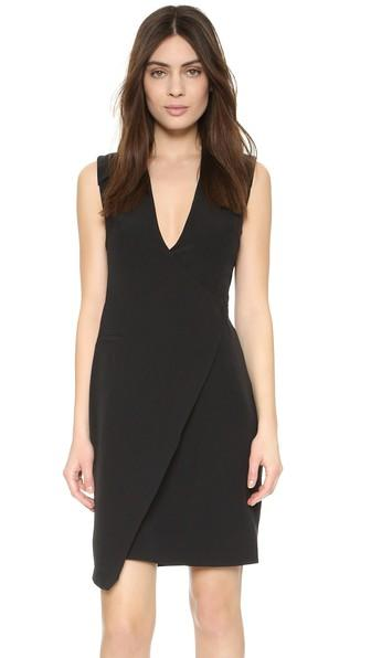 St Olcay Gulsen Wrap X Dress - Black