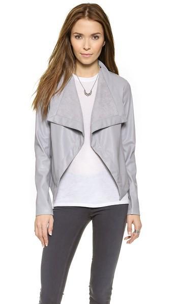 Bb Dakota Lillian Drapey Front Jacket - Wild Dove