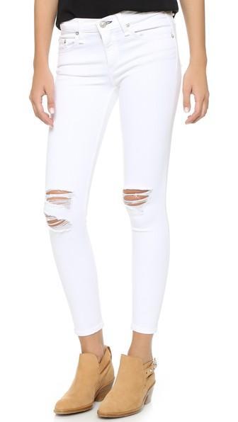 Rag & Bone/jean The Capri Jeans - White