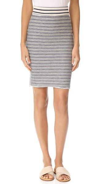 Three Dots Stripe Skirt