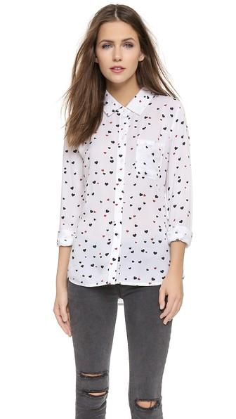 Rails Rocsi Button Down - Hearts On Fire