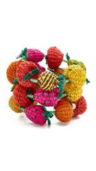 Mercedes Salazar Fruits Beads Double Bracelet