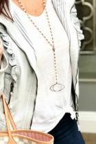 Y Necklace W Evil Eye Charm