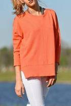 Sweater Square Coral Top