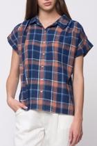 Denim Plaid Sleeve Shirts