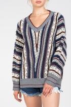 Multi-patterned Sweater
