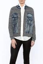 Jean Sweater Zip Jacket
