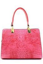Fuchsia Croc Handbag