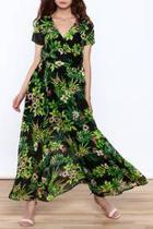 Lightweight Floral Wrap Dress