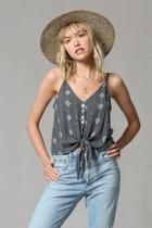 Charcoal Tiefront Cami