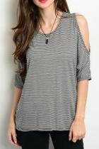 Black Striped Top
