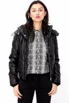 Delphine Faux-leather Puffer