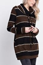 Striped Funnelneck Pullover