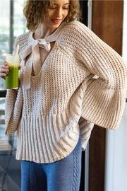 Chenille Bell-sleeve Sweater