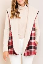 Faux-fur Plaid Vest