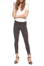 Charcoal Camo Crop Skinny Jeans