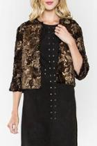 Shimmer Faux Fur Coat
