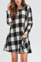 Checker Knit Dress