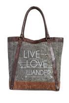 Canvas Leather Handbag