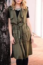 Olive Sleeveless Jacket