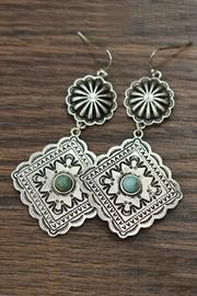 Natural Turquoise Concho-earrings