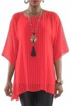 Sheer Red Tunic Top