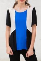 Colorblock Short Sleeve Top