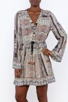 Patchwork Printed Dress