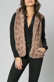 Faux Fur Hooded-vest