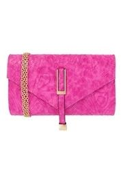 Pink Weave Clutch