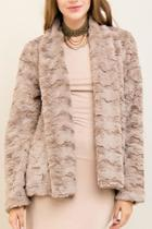Mocha Faux-fur Jacket