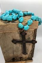 Turquoise Cross-pendant Necklace
